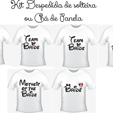 9d6251e0d Kit 5 Camisetas Despedida de Solteira Team Bride