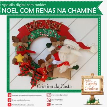 Apostila Noel Com Renas Na Chaminé