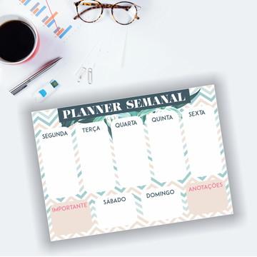 Planner Semanal - Bloco com 50 folhas