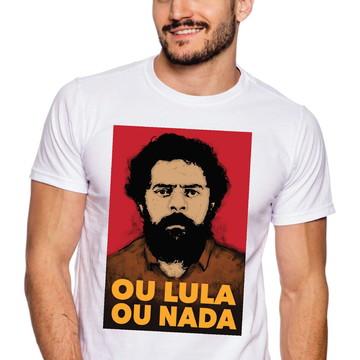 Camiseta Lula Livre protesto politica manifestações #207