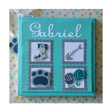 Livro do bebê Personalizado para menino gatinho