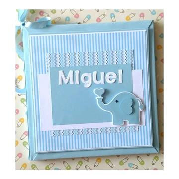 Livro do Bebê Personalizado para menino elefantinho amoroso