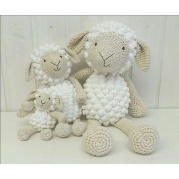 Familia de ovelhas para decoração