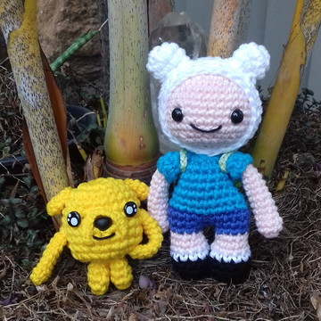 Mini Amigurumi Jake e Finn