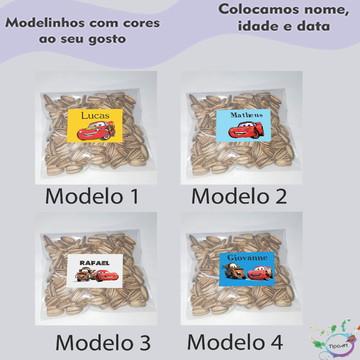 Saquinho personalizado com semente girassol/relâmpago