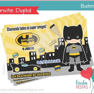 Convite Digital Batman