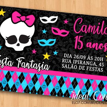 Convite - Festa Fantasia/Caveira