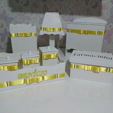 Kit higiene 8 peças Amarelo