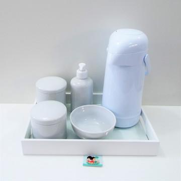 Coleção Mon Blanc - Kit Higiene Bebê Nu Branco Porcelanas