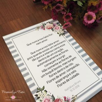 Mensagem para mesa de casamento