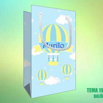 Sacola Personalizada em Papel Fotográfico - Balões
