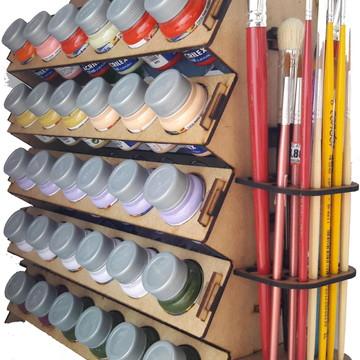 Suporte Organizador P/ Tinta De Tecido Acrilex E Pinceis