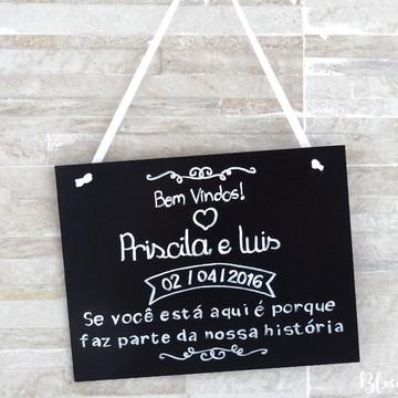 Placa Mensagem / Lousa