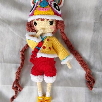 Boneca Luna - Amigurumi