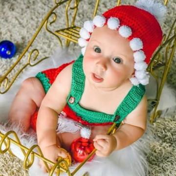 Gorro em Croche Pompom Papai Noel  cde1bc27127