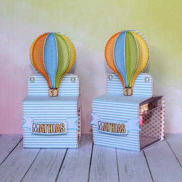Caixa Acrílico Festa Balão Menino