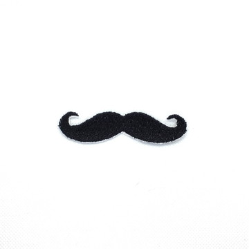 Patch Bordado Termocolante Bigode