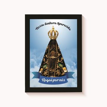Quadro Decorativo Nossa Senhora Aparecida 4 Moldura 30x20cm