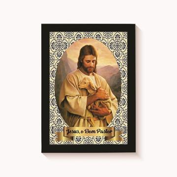 Quadro - Poster com Moldura Jesus, O Bom Pastor
