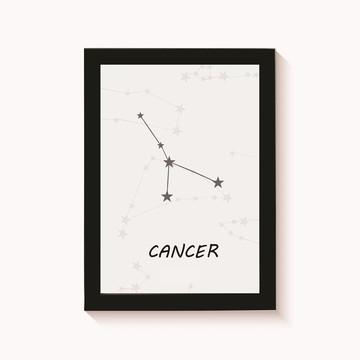 Quadro-Poster com Moldura Câncer