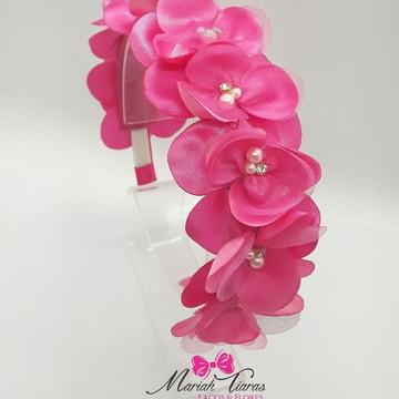 Tiara coroa de orquídeas