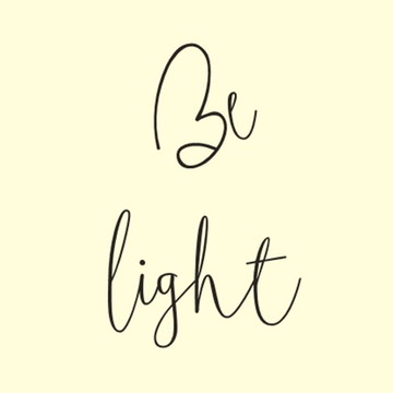 Frase de parede (arame) - Be light