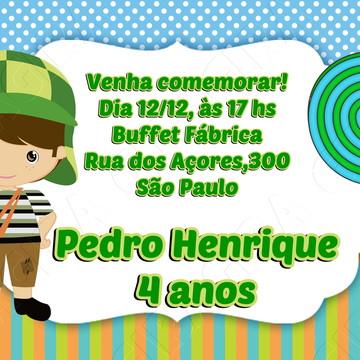 convite digital zap Turma do Chaves