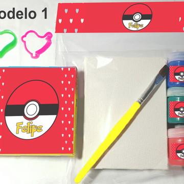 Kit massinha e pintura-pokemon