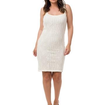 7ad90751cc Vestido Midi Alças Tricot Feminino Off White 05046