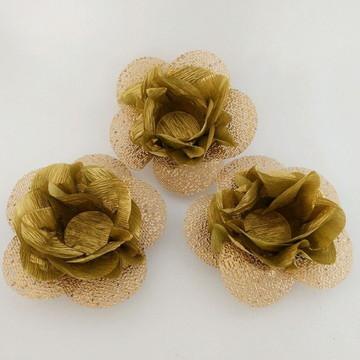 Forminha de doce - Rosa Dourada