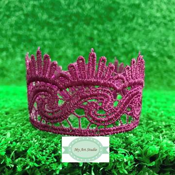 Coroa Sereia em Renda Guipir