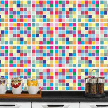 Adesivo de Azulejo Laminado - Colours
