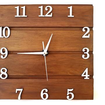Relógio De Parede Rústico - Madeira