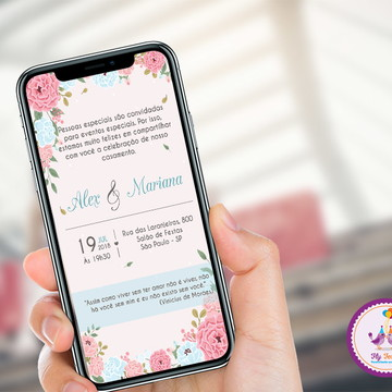 Convite Digital Casamento ou Noivado