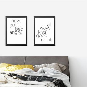 Quadros Quarto Casal - Bed & Kiss