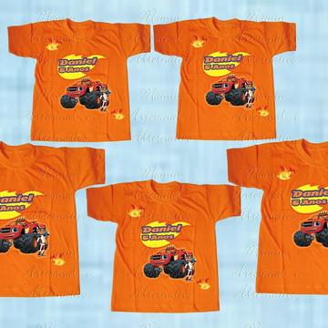 kit 5 Camisetas divertida Blaze