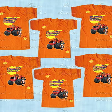 kit 6 Camisetas divertida Blaze