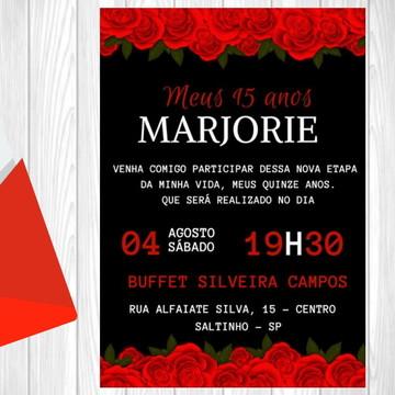Convite Digital - 15, 30, 40, 50, 60, 70, 80, 90, 100 anos