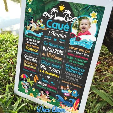 Chalkboard Tema Mickey e Minnie 2