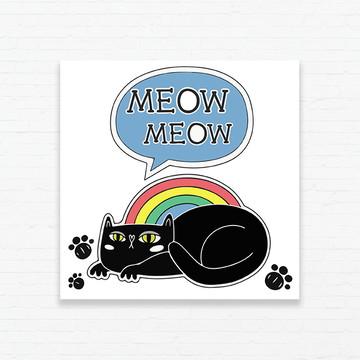 Quadrinho 15x15 Gato Meow Meow