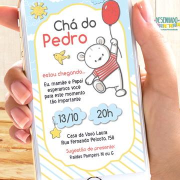 Convite Ursinho balão