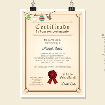 Certificado de Bom Comportamento   Arte Digital