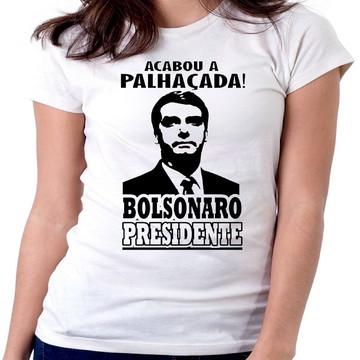 Blusa feminina baby look Jair Bolsonaro acabou a palhaçada