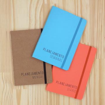 Kit Mini Planner - Diário,Semanal e Mensal
