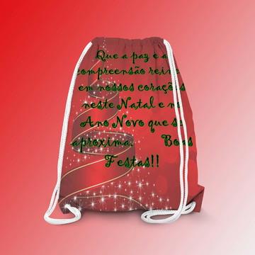 Mochilinha Personalizada Feliz Natal