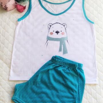 Pijama em Malha Curto Adulto