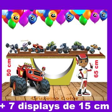 Totem chão Blaze Monster Machine e Displays de mesa 15 a 65