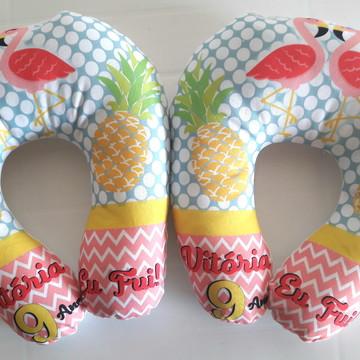 (A15) Almofada de pescoço Flamingos