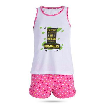 d0e883f749f Pijama Infantil Feminino Personalizado