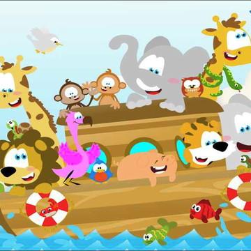 Painel Arca de Noé G - Frete Grátis
